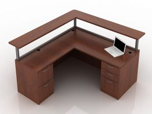 OFW TL Borders L-Shape Reception Desk