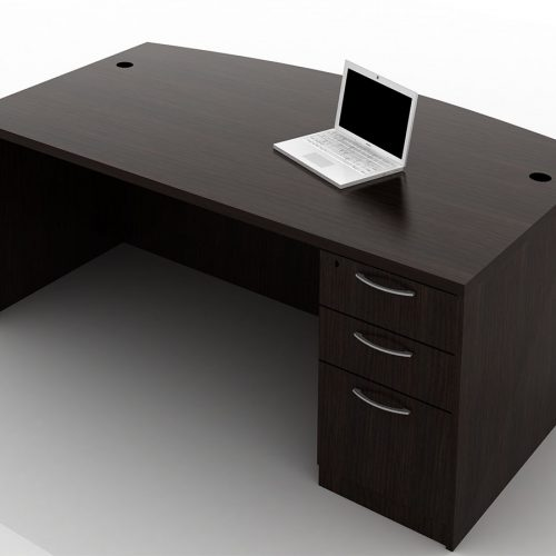OFW TL Single Pedestal Desk with BBF 36x72