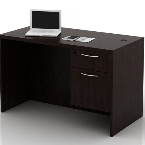 OFW TL Single Pedestal Desk with BF 24x48