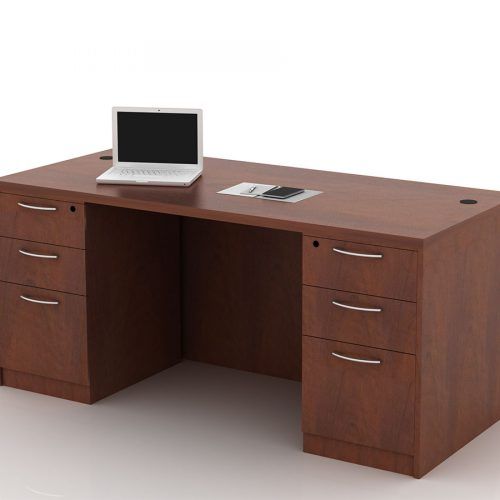 OFW TL Double Pedestal Desk with BBF 30x66