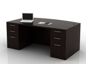 OFW TL Double Pedestal Desk with BBF 36x72