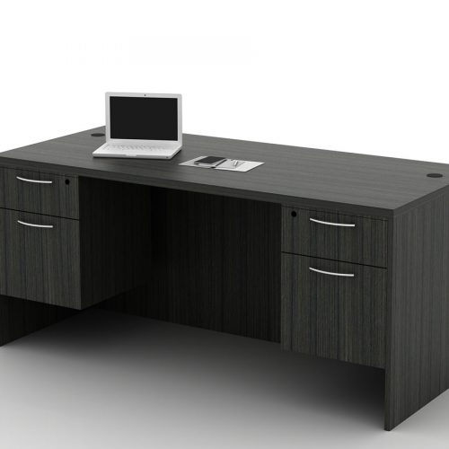 OFW TL Double Pedestal Desk with BF 30x66